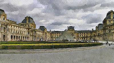 Paris Louvre 5 Poster