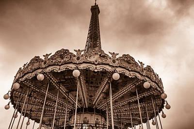 Paris Merry Go Round Toned Poster