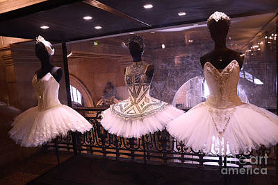 Paris Opera House Ballerina Costumes - Paris Opera Garnier Ballet Art - Ballerina Fashion Tutu Art Poster by Kathy Fornal