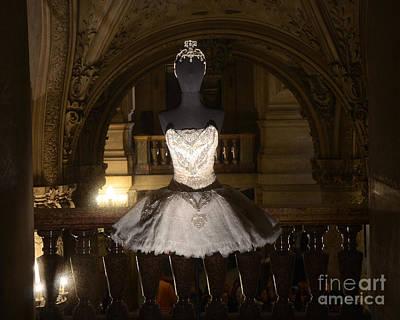 Paris Opera House Ballet - Opera Garnier Ballet Costume - Paris Ballet Tutu - Paris Ballerina Art Poster by Kathy Fornal