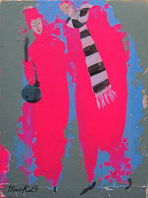 Paris Promenade Poster by Marina Gnetetsky
