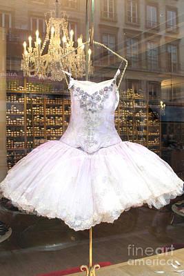 Paris Repetto Ballet Shop Tutu Photo - Paris Ballerina Dress - Repetto Ballet Shop - Paris Ballerina Poster by Kathy Fornal
