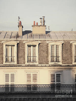 Paris Rooftop Morning Poster by Ivy Ho