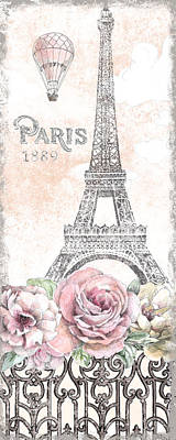 Paris Roses Panel Viii Poster
