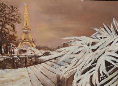 Paris Sous La Neige Poster