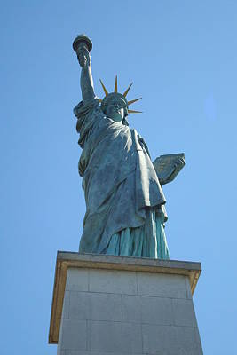 Poster featuring the photograph Paris Statue Of Liberty by Kay Gilley