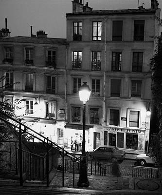 Paris-steps-montmartre Poster by Dave Beckerman