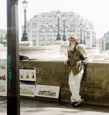 Paris Street Artist Poster by Rebecca Cozart