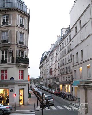 Paris Street Scenes - Paris Architecture Buildings Lights - Paris Winter Gray Street Photos Poster
