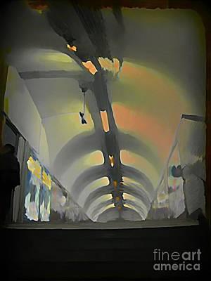 Paris Subway Tunnel Poster by John Malone