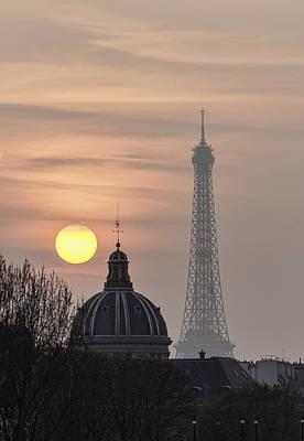 Paris Sunset I Poster