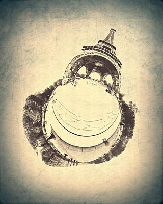 Paris Vintage Eiffel Tower Poster