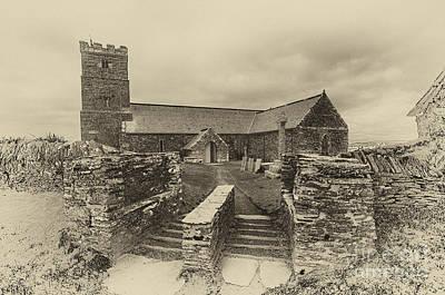 Parish Church Of Saint Materiana At Tintagel Poster