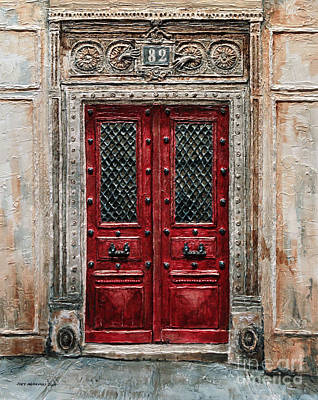 Parisian Door No.82 Poster by Joey Agbayani
