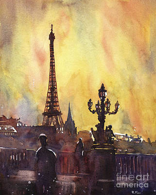 Parisian Sunset Poster
