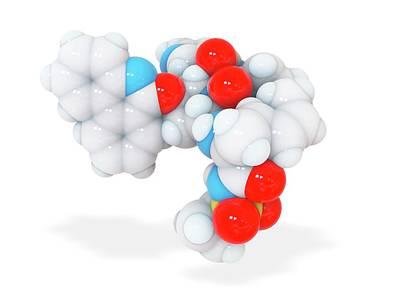 Paritaprevir Drug Molecule Poster by Ramon Andrade 3dciencia