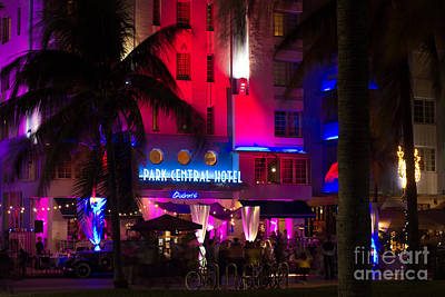 Park Central South Beach Poster by Rene Triay Photography