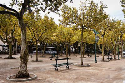 Park In Saint Tropez Poster by Gyorgy Kotorman