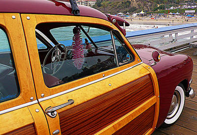 Parked On The Pier Poster by Ron Regalado