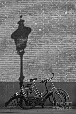 Parked Under The Lamp Post Poster by Inge Riis McDonald