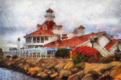 Parkers Lighthouse Restaurant Photo Art Poster by Thomas Woolworth