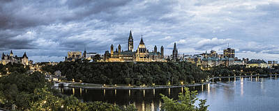 Parliament Hill At Night Poster