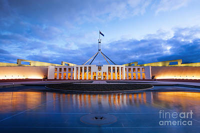 Parliament House Canberra Australia Poster by Colin and Linda McKie
