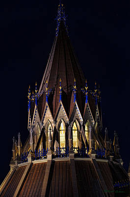 Poster featuring the photograph Parliament Pinnacle  by Robert Culver