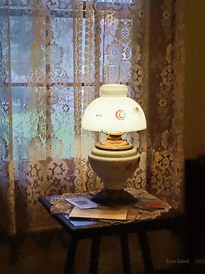 Parlor With Hurricane Lamp Poster by Susan Savad