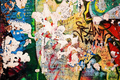 Part Of Berlin Wall With Graffiti Poster by Michal Bednarek
