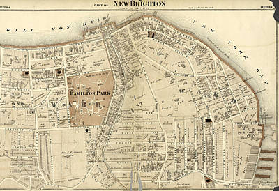 Part Of New Brighton  Town Of Castleton Poster by Litz Collection