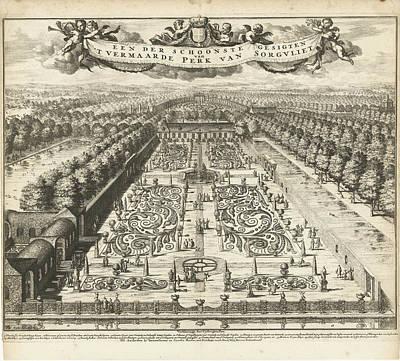 Parterre Garden At Zorgvliet, Johannes Jacobsz Van Den Poster