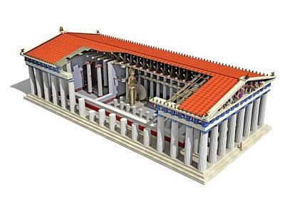 Parthenon Poster by Jose Antonio Pe�as