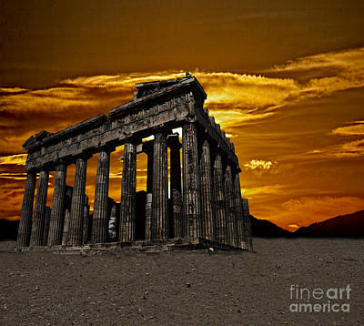 Parthenon Poster by Shirley Mangini