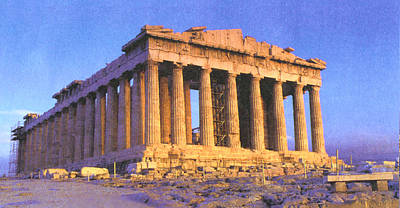Parthenon Poster by Troy Caperton