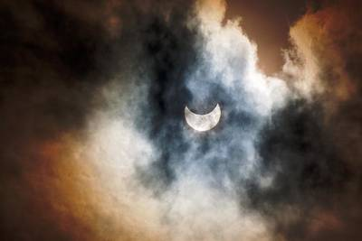 Partial Solar Eclipse Poster by Melanie Lankford Photography
