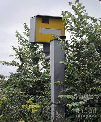 Partially Hidden Speed Camera Poster by Robert Brook