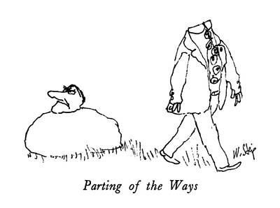 Parting Of The Ways Poster by William Stei