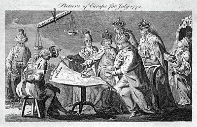 Partition Of Poland, 1772 Poster