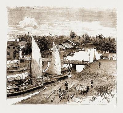 Pasar-bahru, Near The Landing Place, Batavia Poster by Litz Collection