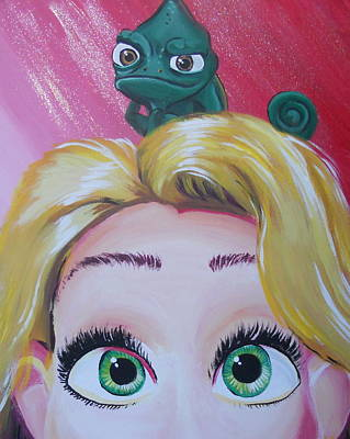 Pascal And Rapunzel Poster by Lisa Leeman