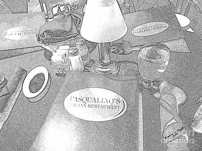 Poster featuring the digital art Pasqualino's Resturant Setup by Angelia Hodges Clay