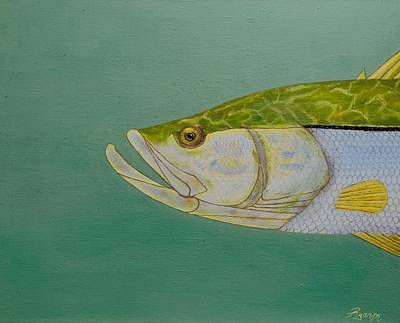 Snook Poster by Glass Illuzions