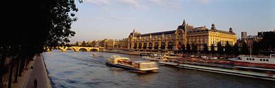Passenger Craft In A River, Seine Poster