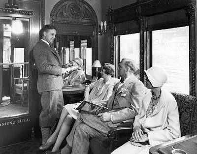Passengers On A Train Poster by Underwood Archives