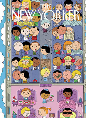 Passengers Travel On A Plane Poster by Ivan Brunetti