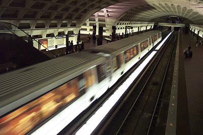 Passing Metro Train Poster