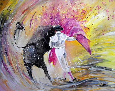 Passing Pink Poster by Miki De Goodaboom