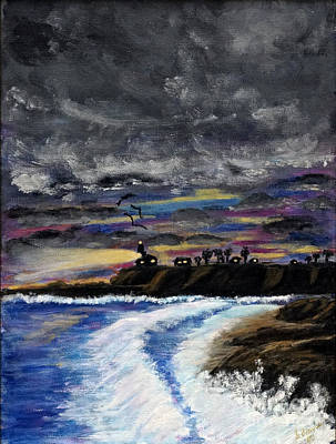 Poster featuring the painting Passing Storm by Gary Brandes