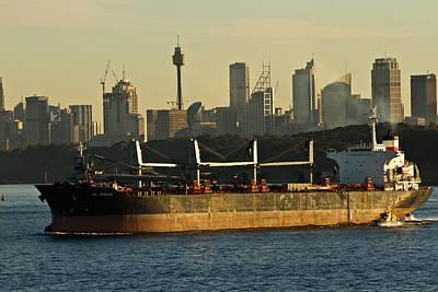 Passing Sydney In The Sunset Poster by Miroslava Jurcik